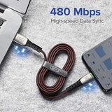 INIU Fast Charging Speed USB Type C Cable 3A Fast Charging,【3 Pack,6.6ft+3.3ft+1.6ft】Zinc Alloy Fast Charger Braided Cable Compatible with Samsung Galaxy S10 S10E S9 S8 Plus Note 10 9 8 A10e,LG,Moto,Huawei,Xiaomi mi etc. USA Imported Product