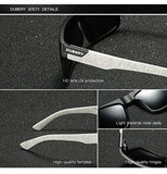 High quality Sunglasses DUBERY Mens Sport Polarized Sunglasses Outdoor Riding Square Windproof Eyewear plastic frame Composite lens USA Imported Product - EY Shopping