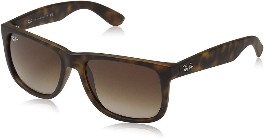 classic unisex pair of sunglasses Ray-Ban RB4165 Justin Rectangular Sunglasses USA Imported Product - EY Shopping
