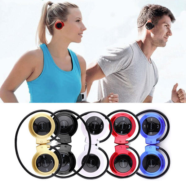 Bakeey 503 Sport Running Sweat-proof TF Card Ear Hook bluetooth Headphone Headset with Mic for Phone