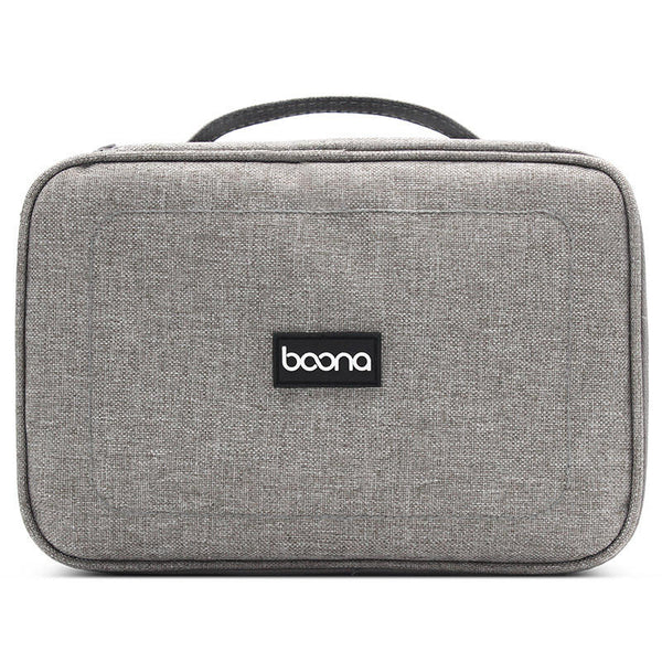 Boona 23cm*16cm Double Deck Digital Accessories Storage Bag U Disk Memory Card USB Cable Tablet Organizer Travel Bag