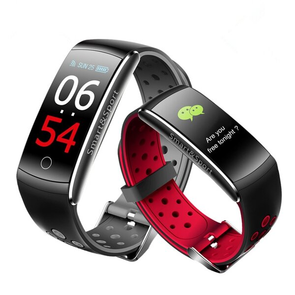 Bakeey Q8S Color Screen IP68 Blood Pressure Heart Rate Monitor Sport bluetooth Smart Wristband