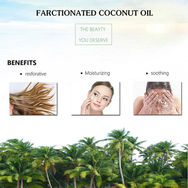 100ml Coconut Oil Soften and Repair Dry Cracked Skin Essential Oil