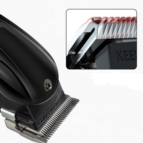 Men Electric Hair Clippers USB Rechargeable Cordless Hair Trimmer With 4 Limit Combs