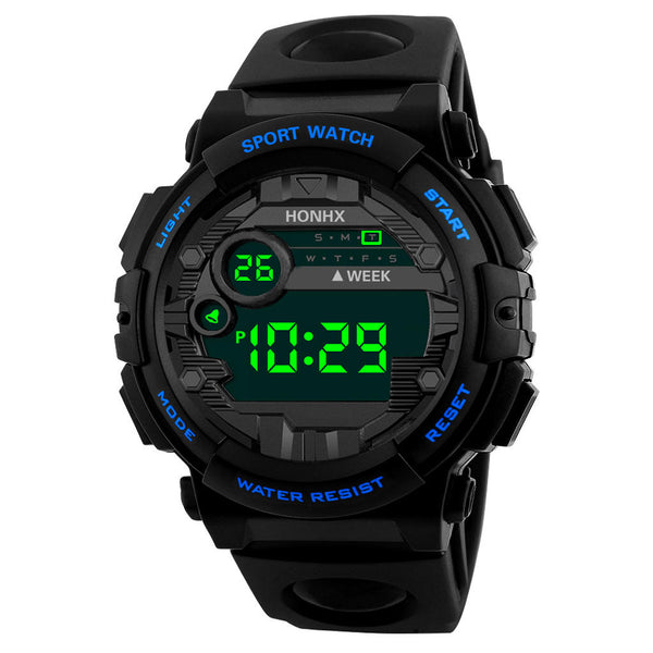 HONHX 62X-66F Fashion Luminous Display Alarm Clock Sport Style Men Digital Watch