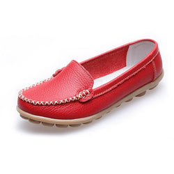 Women Casual Flats Round Toe Loafers Soft Sole Slip On Flat Loafers - EY Shopping