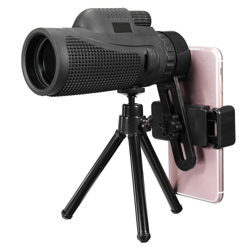 16X52/40X60 HD Zoom Monocular Telescope Telephoto Camera Lens Phone Holder/Tripod Gift for Outdoor Travel Hiking
