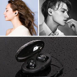 [bluetooth 5.0] Invisible Wireless Earphone HIFI Stereo Waterproof DSP Noise Cancelling With HD Mic