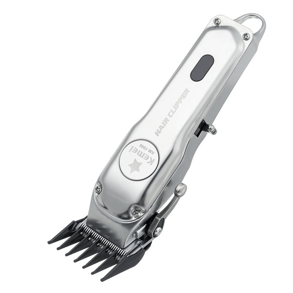 Kemei KM-1996 Metal Electric Hair Clipper Barber Professional Rechargeable Hair Trimmer Cutter