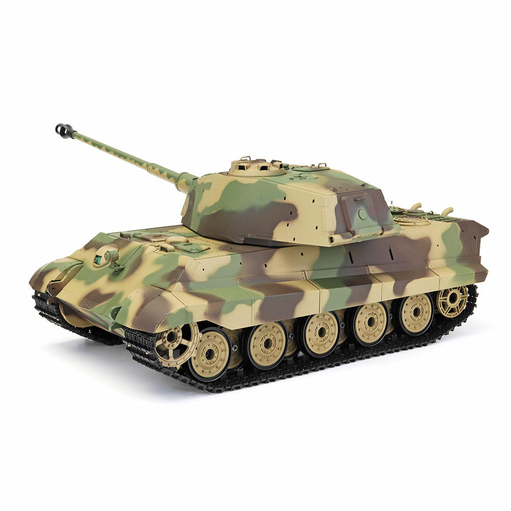 Henglong 6.0 3888A -1 1/16 2.4G German Tiger King Henschel Battle RC Tank Smoking Sound Plastic One Toys