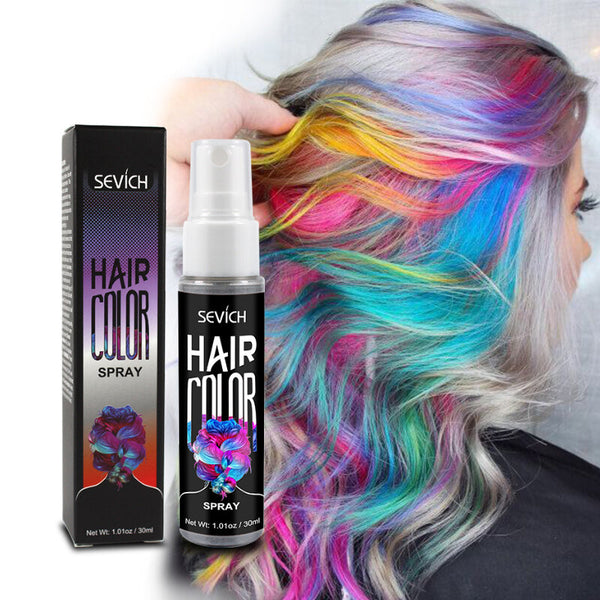 Sevich 30ml Temporary Spray hair dye Liquid hair dye Unisex Hair Color Dye Red/Grey Instant color dye Easy to use Hair Styling 4.5