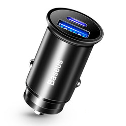 Baseus 30W 5A Warp OPPO VOOC Certified USB-C Car Charger 2-Port PD3.0 QC4.0 FCP SCP AFC Fast Charger Adapter With USB Port+ Type-C Port For Smart Phones For iPhone 11 Pro Max SE 2020 For Samsung Galaxy S20 For Nintendo Switch Xiaomi Note 9s Huawei P30