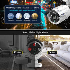 Hiseeu 1080P Wireless CCTV 8CH NVR Kit Outdoor IR Night Vision IP Camera WiFi Camera Security Surveillance EU Plug - EY Shopping
