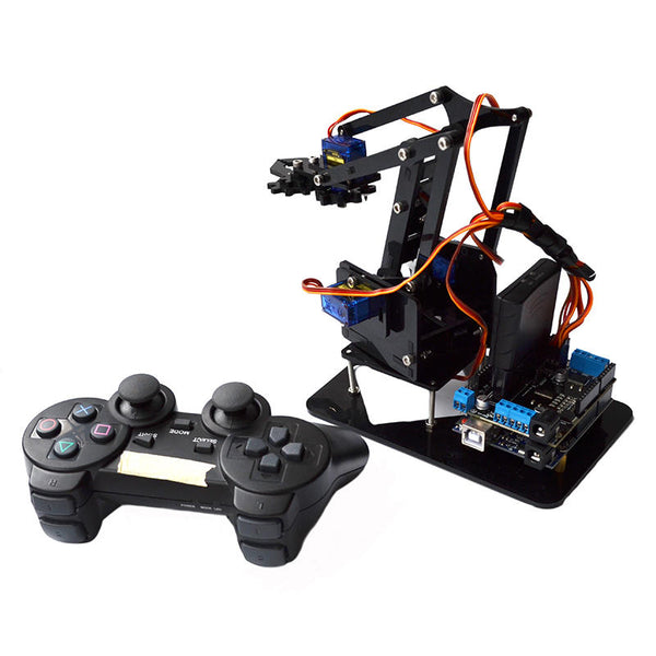 Acrylic Remote Control Robot Arm 4DOF With  PS2 RC Robot Toys