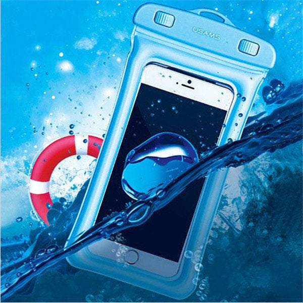 USAMS YD007 IPX8 Waterproof Touch Screen Gasbag Floating Phone Bag Shockproof Airbag Bumper Case