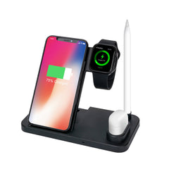 Bakeey 30W 4in1 Type C Fast Charging Magnetic Vertical Wireless Charger For iPhone XS 11Pro Huawei P30 Pro P40 Xiaomi Mi10 Redmi K30 S20 5G