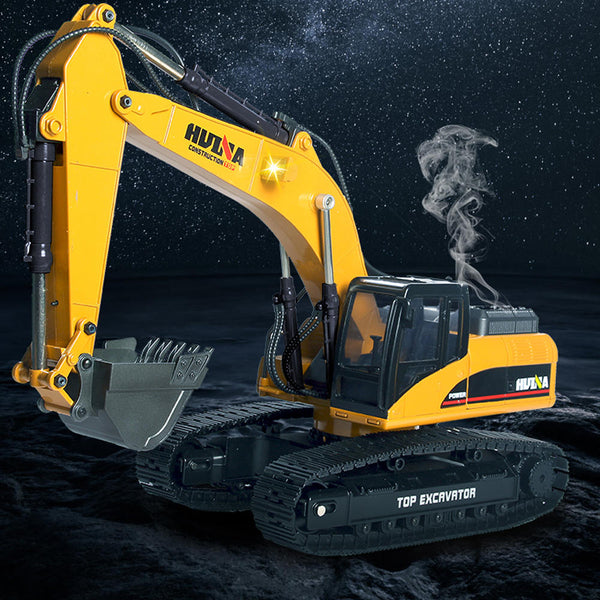 HUINA 580 Excavator RC Car Toys Styling 23 Channel Road Construction All Metal Truck Autos