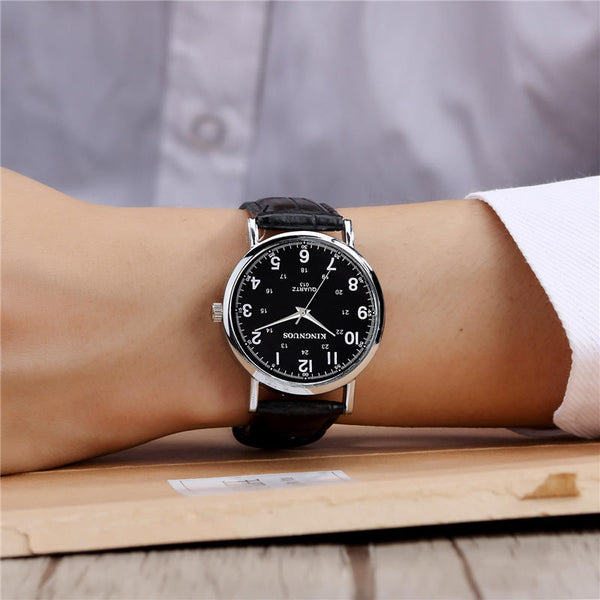 KINGNUOS 013 Casual Style Clock Men Wrist Watch Business Style Waterproof Quartz Watch