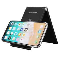 7.5W/10W Foldable QI Wireless Charger Holder Two Coils for Samsung S8 Note 8 Xiaomi