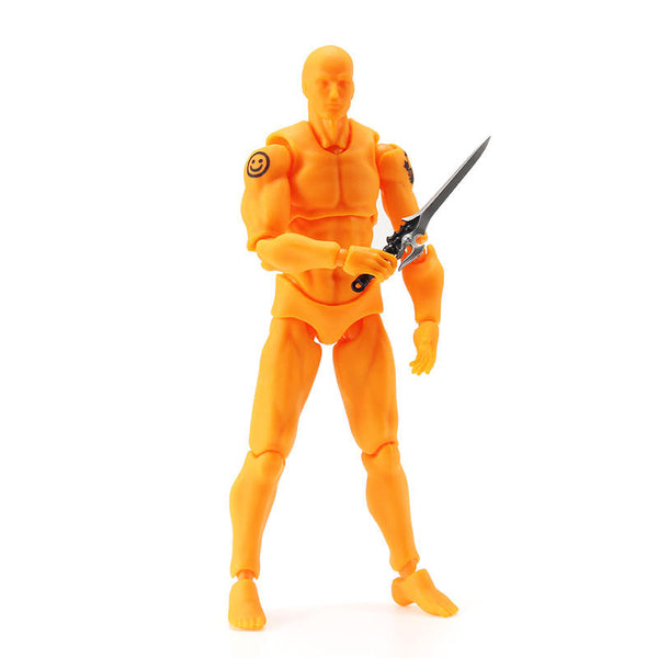 Figma 2.0 Deluxe Edition Orange Male Style PVC Action Figure Toys Collectible Model Dolls Toy