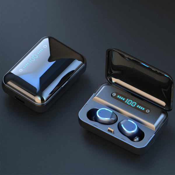 F9 TWS bluetooth 5.0 Sport Earphone LED Display CVC8.0 Noise Reduction Headphone with 3600mAh Charging Box