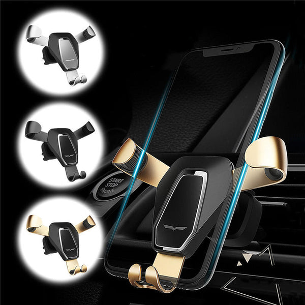 360 Degree Rotation Metal Gravity Auto Lock Holder Car Air Vent Mount Phone Stand Outlet Bracket