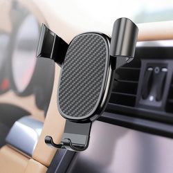 Bakeey Carbon Fiber Gravity Linkage Air Vent Car Phone Holder For 4.0-6.0 Smart Phone