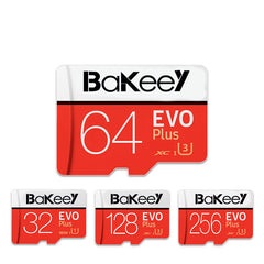 Bakeey BK-TF4 EVO+ Memory TF Flash Card SDHC 16G/32G SDXC 64GB 128GB Class10 Memory Card C10 UHS-I TF/SD Cards With Card Adapter For Smartphone Tablet Switch Speaker Drone Car DVR GPS Camera