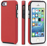 New Style Case Cover for iPhone iPhone 5/5s/SE Case, CellEver Dual Guard Protective Shock-Absorbing Scratch-Resistant Rugged Drop Protection Cover for iPhone 5/5S/SE (Red) USA Imported Product - EY Shopping