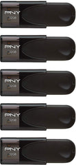 High Quality PNY 32GB Attaché 4 USB 2.0 Flash Drive – 5-Pack - Black (P-FD32GX5ATT4-EF) USA Imported Product - EY Shopping