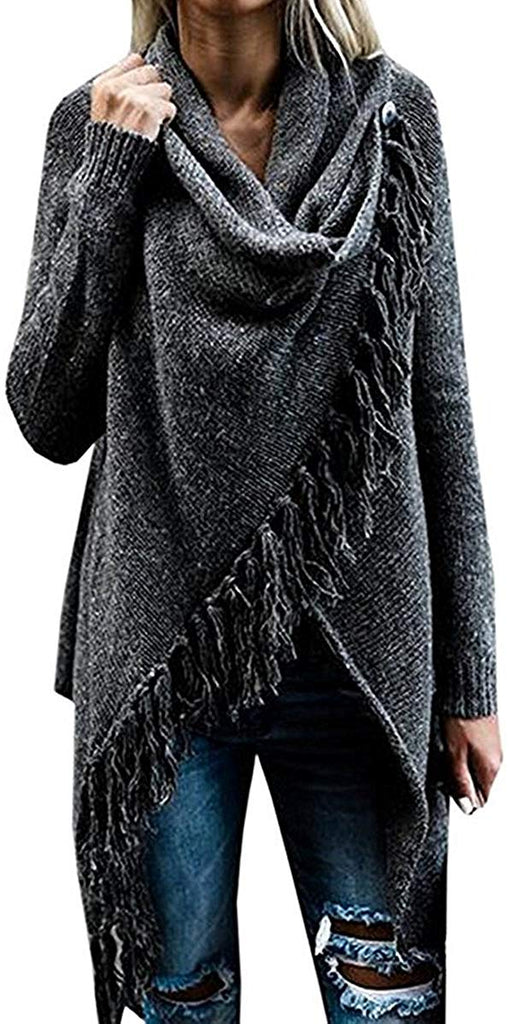 100% Money Back Guarantee USA Imported Product Brand New High Quality Women Sweaters, Fantastic Zone Women's Long Sleeve Speckled Fringe Open Front Cardigan Sweaters for Women, Cotton Fabric sweaters for women