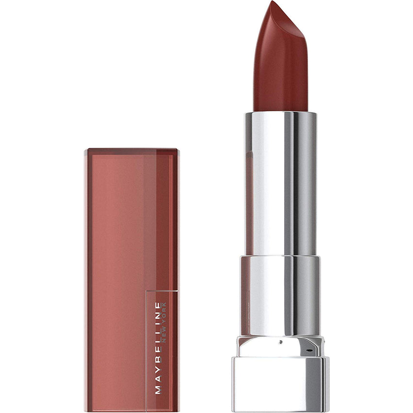 Infused with Shea butter Maybelline Color Sensational Lipstick, Lip Makeup, Cream Finish, Hydrating Lipstick, Nude, Pink, Red, Plum Lip Color, Double Shot, 0.15 oz USA Imported Product