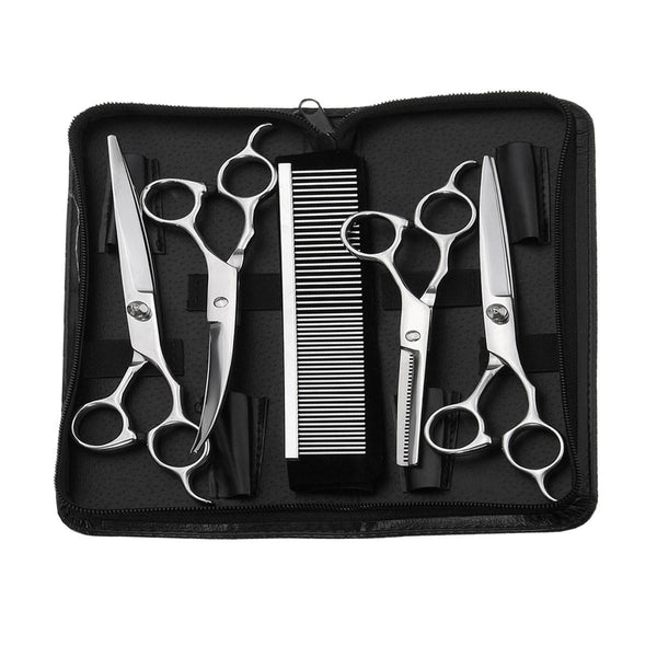 Y.F.M 5Pcs Hair Scissors Set Salon Hairdressing Cutting Thinning Hair Styling Kit