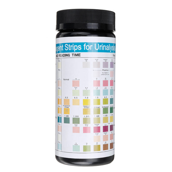100pcs URS 10T Urine PH Test Kit Strip Convenient Alkaline Poor Acid Level Water Quality Tester