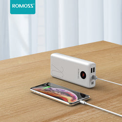 ROMOSS SW20 Pro 20000mAh Power Bank 18W Portable Digital Display Charger Fast Charging For iPhone XS 11Pro Xiaomi Mi10 Redmi Note 9S
