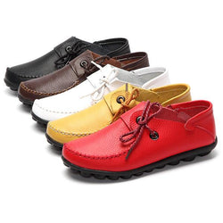 Women Soft Comfortable Leather Flats US Size 5-12 - EY Shopping