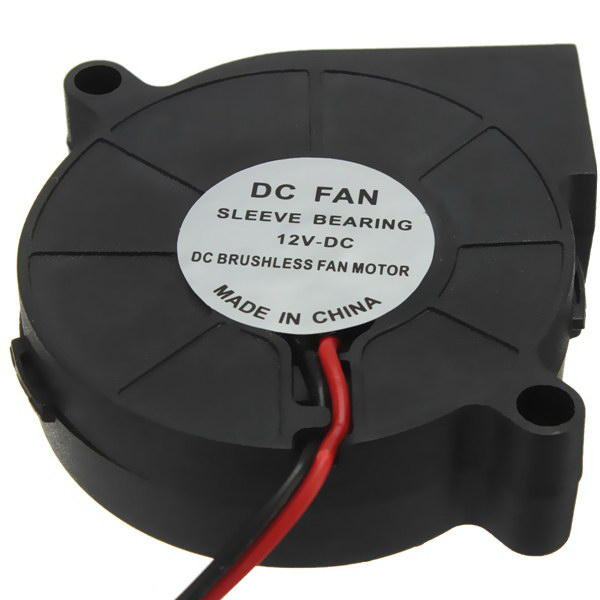 3Pcs 3D Printer 12V DC 50mm*50mm Blow Radial Cooling Fan