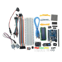 UNO R3 Starter Kits 1602 LCD L293D Motor LED Matrix MB102 Breadboard