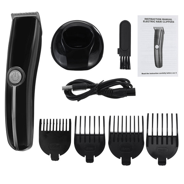 Multi-Function Hair Clipper Razor Rechargeable Washable Nose Hair Trimmer Device Set Haircut Scissors w/ 4 Limit Combs