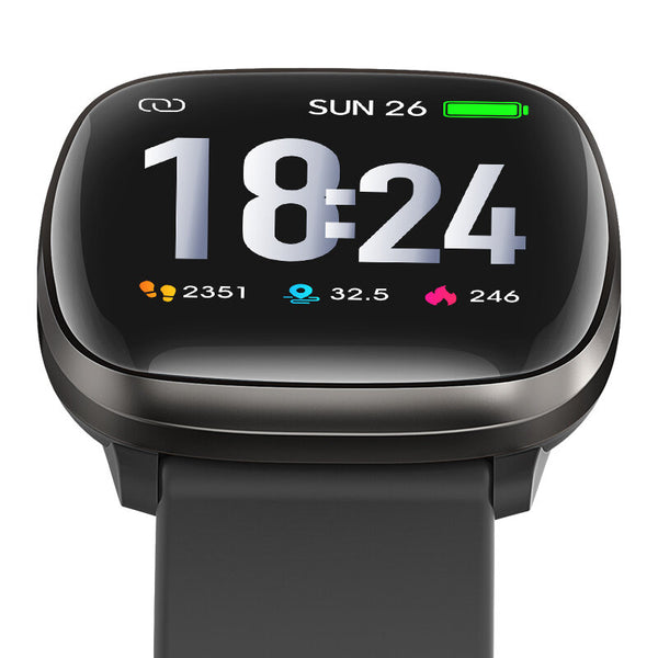 Bakeey E102 1.3inch Full-touch Screen Heart Rate Blood Pressure O2 Monitor One-key Measurement Multi-sport Modes Weather Push Smart Watch