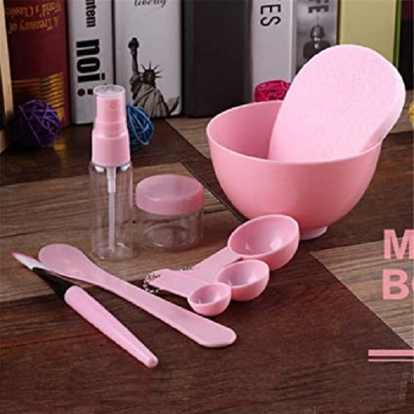 9Pcs Mask Bowl Set DIY Film Dispensing Bowl Beauty Salon Home-made Mask Bar Compressed Mask Brush Tool Gauge
