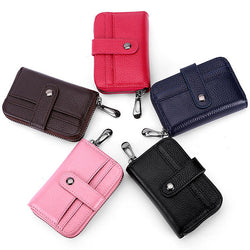 Women Men Genuin Leather 12 Card Slots Card Holder Fashion Wallet