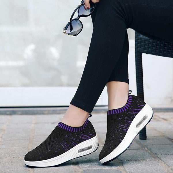 Mesh Rocker Sole Shoes Women Breathable Light Casual Sport Outdoor Shoes - EY Shopping