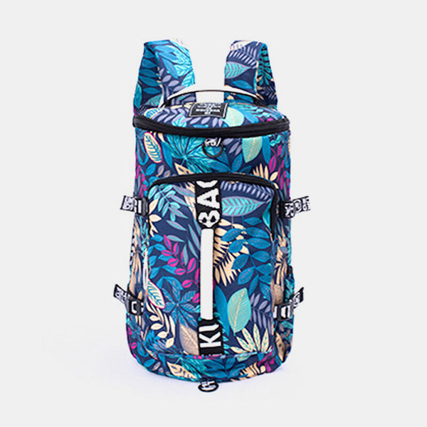 Men Women Multi-Color Canvas Sports Fitness Backpack Fashion Lightweight Travel Luggage Bag