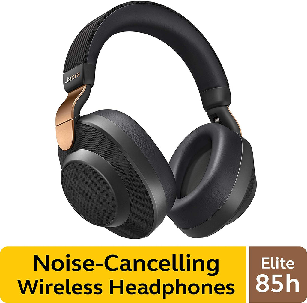 Jabra Elite 85h Wireless Noise-Canceling Headphones best wireless calls and music experience with SmartSound, Copper Black – Over Ear Bluetooth Headphones Compatible with iPhone & Android - Built-in Microphone, Long Battery Life - Rain & Water Resistant