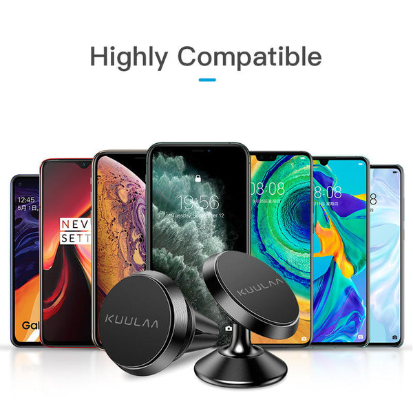 KUULAA Magnetic Air Vent Dashboard Car Phone Holder Car Mount for 4.0-6.8 Inch Smart Phone for iPhone for Samsung Xiaomi Redmi Note 10