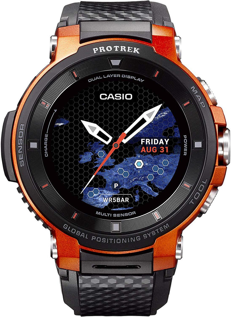 Digital Display Touchscreen and Magnetic Watch Casio Pro Trek Touchscreen Outdoor Smart Watch Resin Strap USA Imported Product - EY Shopping