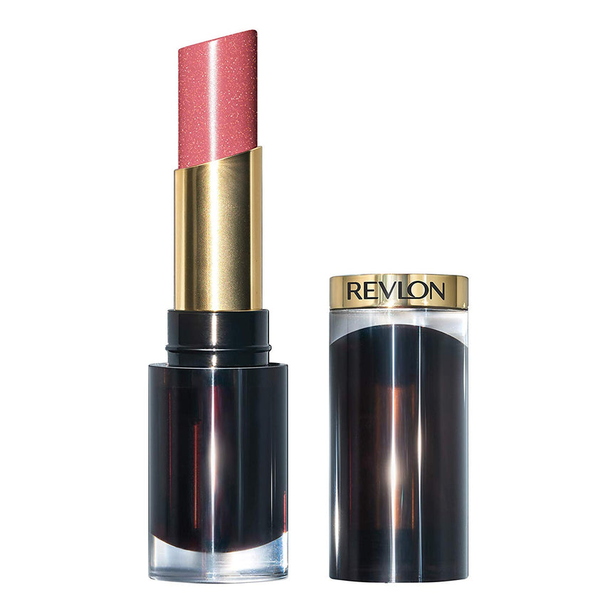Irresistible color Revlon Super Lustrous Glass Shine Lipstick, Moisturizing Lipstick with Aloe and Rose Quartz in Pink, 003 Glossed up Rose, 0.15 oz USA Imported Product