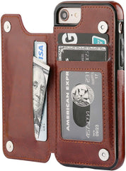New Style Case Cover for iPhone iPhone 8 Wallet Case with Card Holder,OT ONETOP iPhone 7 Case Wallet Premium PU Leather Kickstand Card Slots,Double Magnetic Clasp and Durable Shockproof Cover 4.7 Inch (iPhone 7/iPhone 8 Rose Gold) USA Imported Product - EY Shopping