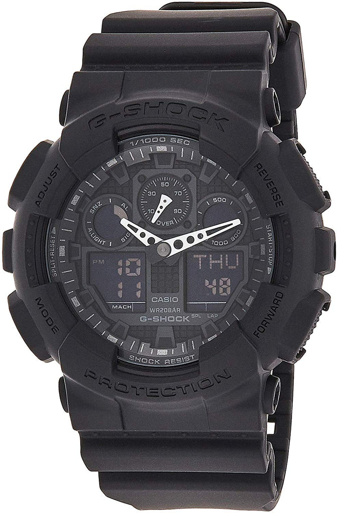 Best Digital Watches Casio Men's G-SHOCK - The GA 100-1A1 Military Series Watch in Black USA Imported Product - EY Shopping